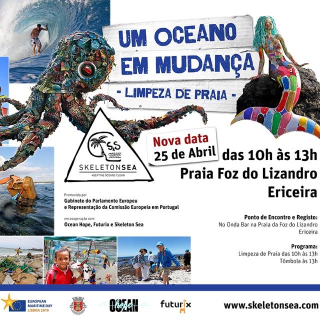 Limpeza de Praia – NOVO DIA na quinta-feira 25 de abril 2019, das 10:00h às 13:00h, da Foz do Lizandro: